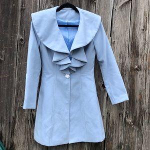 Jackets & Blazers - Beautiful baby blue pea coat